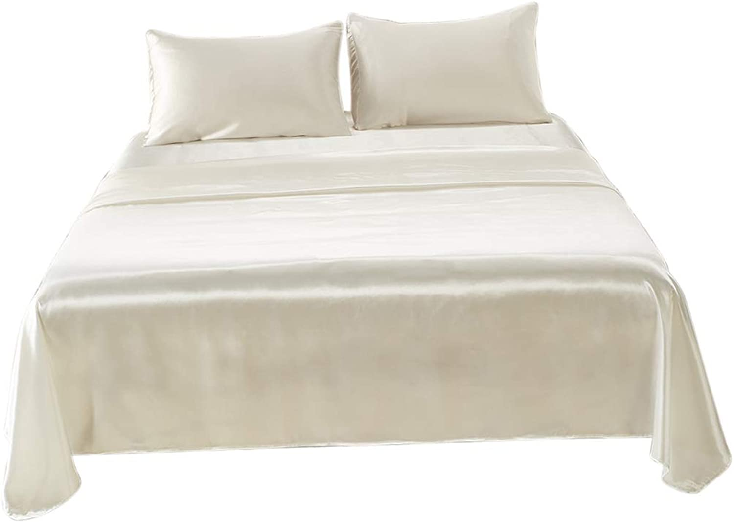 Baoblaze Bedding Sheets Set 3 4Piece, Hotel Quality Deep Pockets Fitted Sheet, Hypoallergenic & Soft Microfiber  White, King (4 Piece)