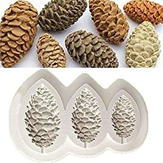 3 Caves Pine Cone Silicone Mold Fondant/Sugar/Chocolate Mould Cake Decoration Maker Baking Tools by EORTA for Christmas Pa...