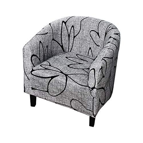 Tongliang Club Chair Schonbezug Elastisch Sesselschoner Stretch Club Sofa Schonbezug Wannenstuhlbezug Sesselüberzug Für Cafe Stuhl Sessel #13