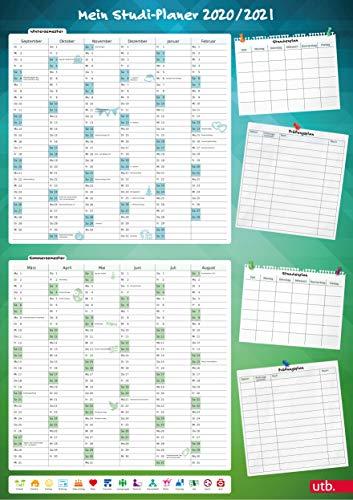 Mein Studi-Planer. A1-Poster für Wintersemester 2020/21 und Sommersemester 2021