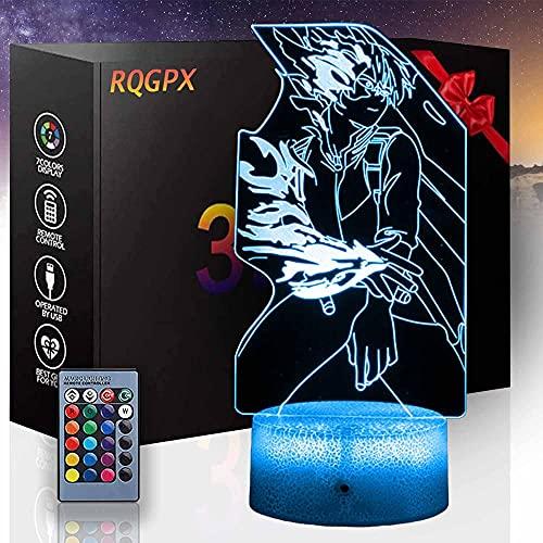Lámpara de ilusión 3D My Hero Academia Todoroki Shoto una luz de noche para decoración de escritorio para niños y niñas como en cumpleaños o vacaciones