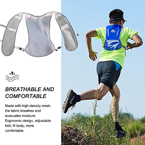 HINATAA Lightweight Running Hydration Backpack, 5L 190g Running Hydration Vest for Women and Men Cycling Running Climbing Hiking Vest Pack (Blue)