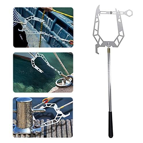N|A Gancho multifunción para barco en forma de U telescópico de metal con gancho para montaje al aire libre.