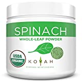 KOYAH - Organic USA Grown Spinach Powder (Equivalent to 30 Cups...