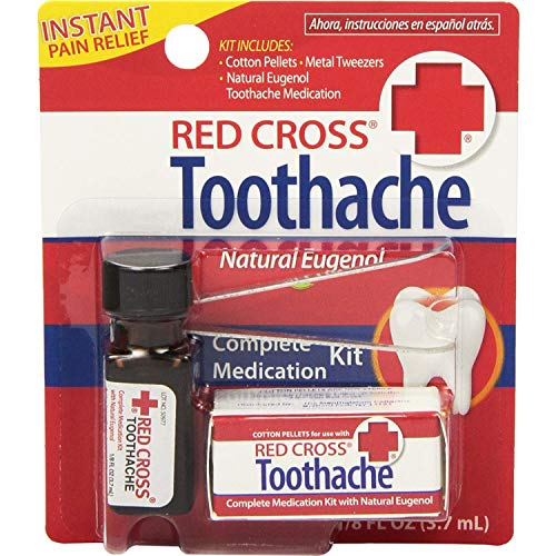 Red Cross Toothache Complete Medication Kit 0.12 oz (Pack of 3)