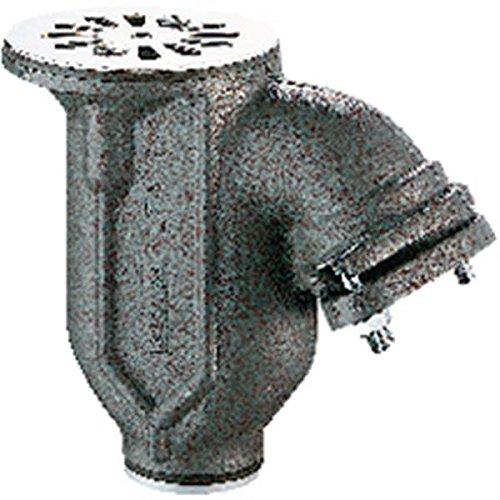 Siphon fonte sortie oblique diamètre 40 avec grille Réf : 633000