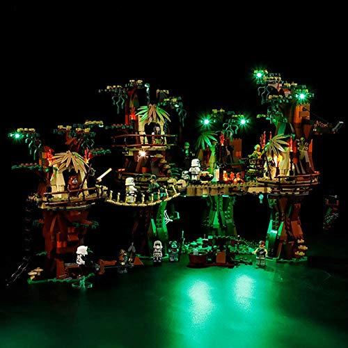 ADMLZQQ Juego de iluminación LED para Lego Ewok Village, Compatible con Bloques de construcción Modelo Lego Star Wars 10236, no Incluido en el Modelo