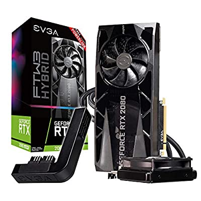 EVGA GeForce RTX 2080 Super Ftw3 Hybrid Gaming, 8GB GDDR6, RGB LED Logo, iCX2 Technology, Metal Backplate + PowerLink 08G-P4-3288-Kp