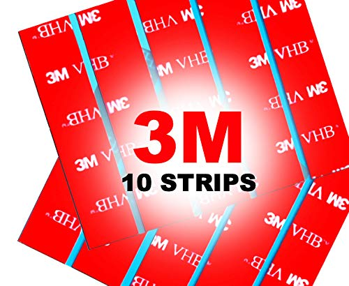 10 x 3M VHB Number Plate Sticky Pads, Adhesive Double Sided Sticky Pads Stickers, Car License Plates Fixings Strong Heavy Duty Tape
