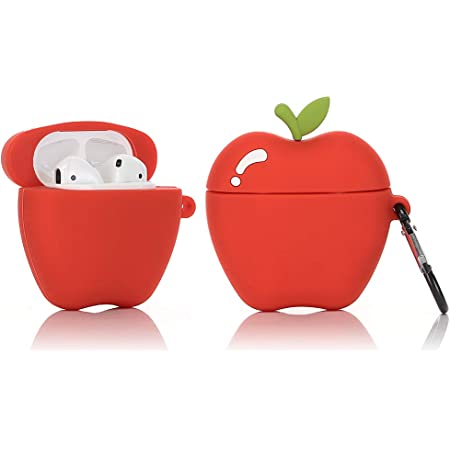 Best Gift for Girls or Couples Fruit and Vegetable Series Bow Avocado LEWOTE Airpods Silicone Case Funny Cute Cover Compatible for Apple Airpods 1/&2