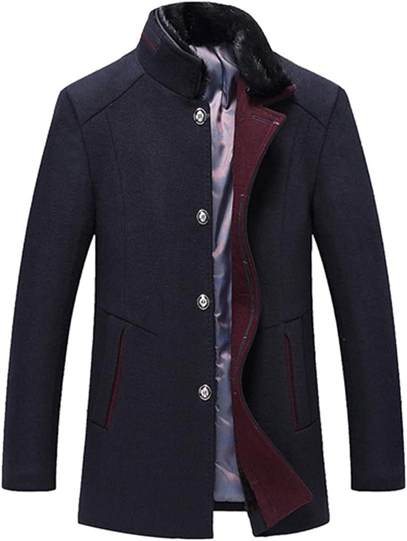 Wool Coat Winter Coat Men Thick Windbreaker Woolen Overcoat Casaco Masculino Palto Jaket Peacoat Jacket