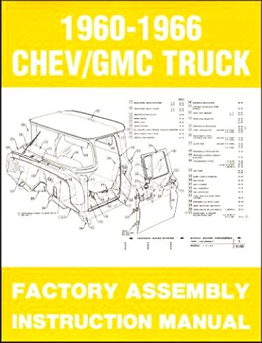 COMPLETE, FULLY ILLUSTRATED 1962 CHEVY & GMC TRUCKS & PICKUPS FACTORY ASSEMBLY INSTRUCTION MANUAL - INCLUDES C10, C20, C30 K10. K20, K30, Panel, Pickup, Suburban - CHEVROLET