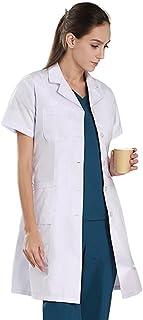 Women's White Lab Coats Doctor Workwear - Unisex Lab Coat Scrubs Adult Uniform