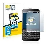 BROTECT Schutzfolie kompatibel mit BlackBerry Classic Q20 (2 Stück) klare Bildschirmschutz-Folie