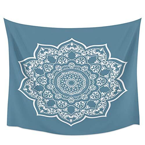 Mandala Azul Flores Tapiz De Pared Cubierta Toalla De Playa Picnic Yoga Mat Decoración Del Hogar-51 'X59'