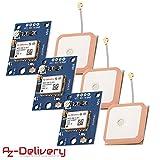 AZDelivery 3 x NEO-6M Módulo GPS con eBook incluido