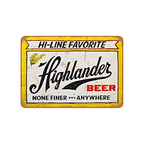 43LenaJon Highlander Bier Vintage Look Metallschild
