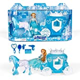 Yellow River Princess Dolls Horse Toys for Girls, Fairy Carriage with Crown Dressing Accessories, Princess Horse and Carriage Toy with Royal Charming Doll, Walking Horse, Role-Playing Toys for Kids