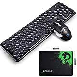LexonElec Tastiera Combo Mouse 4800mAh Ampia capacità Ricaricabile Tecnologia wireless 2....