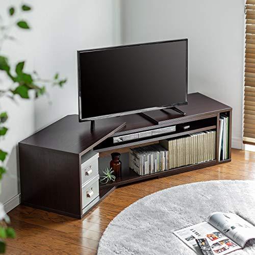 サンワダイレクトテレビ台幅110~180cmコーナー32型~50型総耐荷重50kg木目調ブラウン100-TV009M