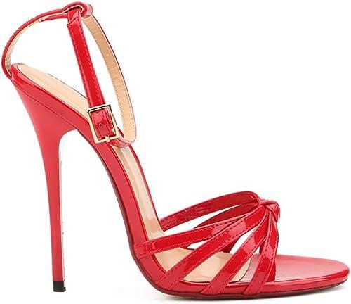 XIEZI Frauen Frauen Frauen im Nebenbereich; Knöchel Strap Sandalen mit Stiletto Heel und Schnalle  Heute online einkaufen