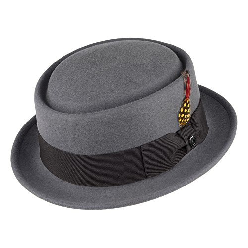 Jaxon & James Chapeau Pork Pie Déformable Gris XXLarge