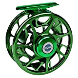 PROBEROS Fly Fishing Reel, CNC Machined Aluminum Large Arbor Alloy Body Fly Reels, 7\/9 Weight,Dark Green