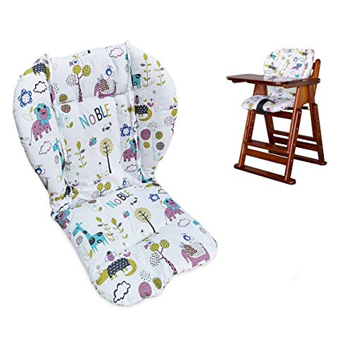 Twoworld High Chair Cushion, Large Thickening Baby High Chair Seat Cushion Liner Mat Pad Cover Breathable (Animal World)