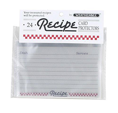 Weatherbee Clear Recipe card Protectors, 3da 12,7cm, set di 24by HIC Harold Import Co.