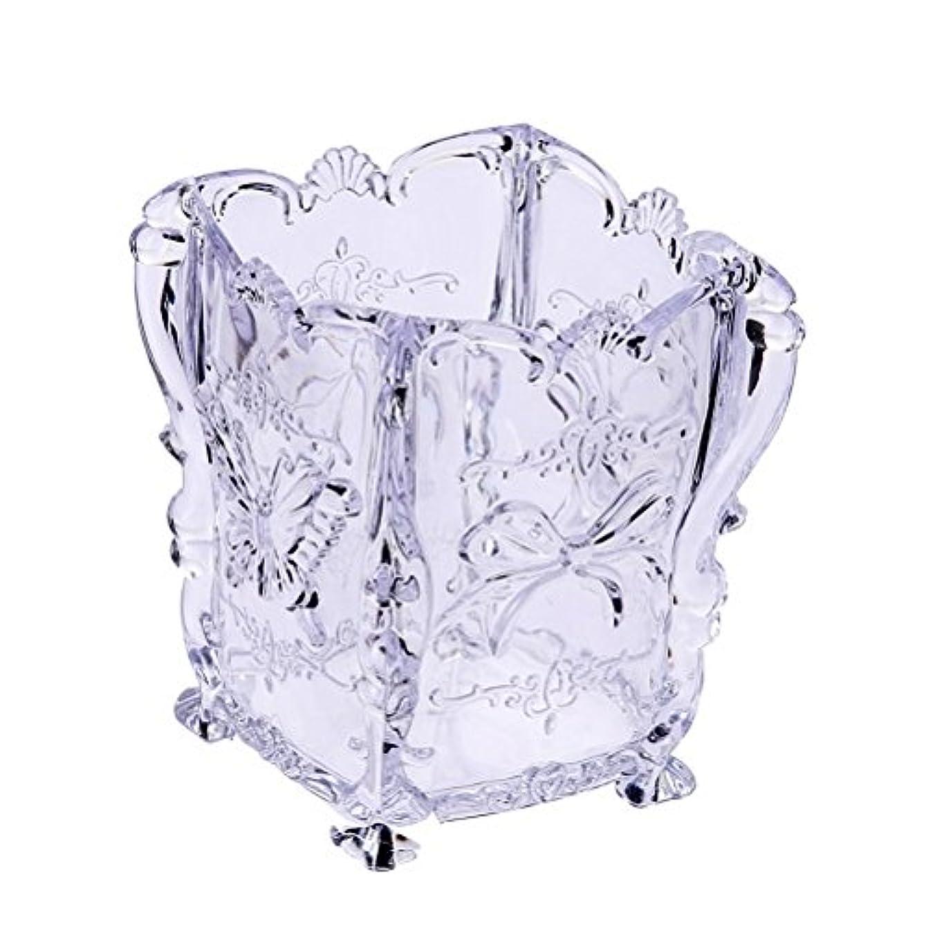 ニュース結婚したフェッチファッション新しいデザインアクリルメイク化粧品収納ボックスケースブラシホルダーペン主催装飾4色-ゆとり