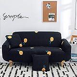 ARTEZXX Funda sofá Todo Incluido Universal All Season Funda de sofá Tejido poliéster y Elastano elástica Cubiertas de sofá 1/2/3/4 plazas Azul Oscuro 1 plazas: 90-140 cm