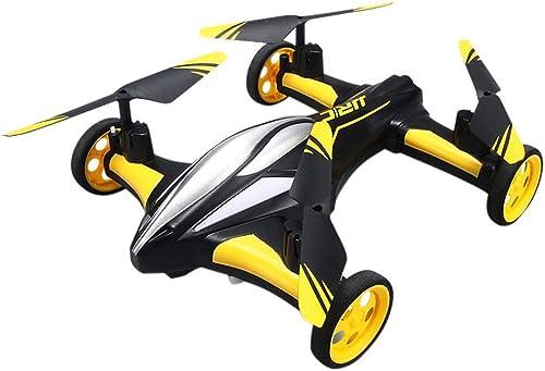 nuevo estilo ELVVT 2 en 1 Control Remoto Flying Quadcopter Car Car Car RC Car y RC Quadcopter Control Drone Flying Niños y Adultos Cumpleaños Colección de Navidad Regalos 23.5x23.5x6.5cm  Garantía 100% de ajuste