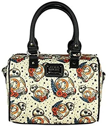 Amazon.com  Loungefly Star Wars BB8 Tattoo All Over Print Duffle Ba   Clothing 30624742625b3