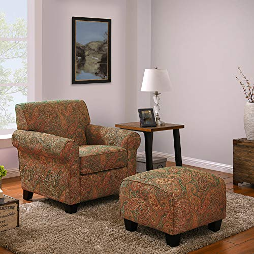 Chair and a Half with Ottoman Domesis Winnetka Accent Chair with Ottoman