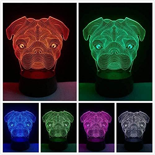 Baby Spielzeug 3D lindo perro forma llevó la lámpara noche luz novedad dormitorio escritorio mesa decoración hogar