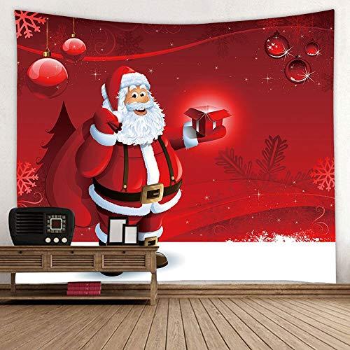 KHKJ Art Home Colgante de Pared Tapiz navideño Decoración Ornamentación para Regalos A4 150x130cm