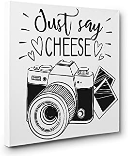 Just Say Cheese Camera PHOTOGRAPHY CANVAS Wall Art Home Décor