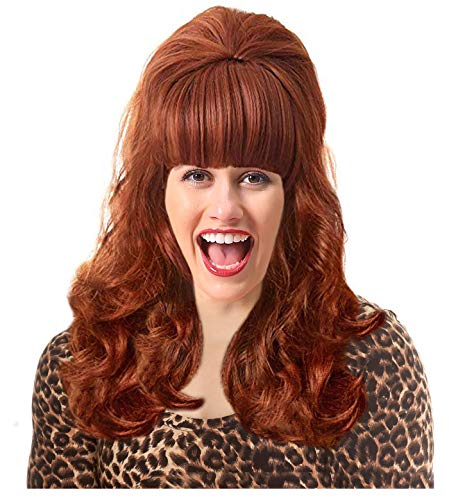 60s Peg Costume Wig Peggy Wig Red Wig Bouffant Wig White Trash Costume