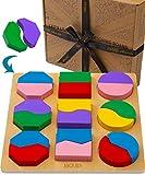 Jaques of London Puzzle de Madera Infantil – Puzzle Premium Madera 1 año y más Viejo – Calidad Juguetes de Madera y Juegos Montessori 1 año Desde 1795