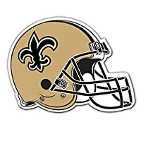 "Fremont Die NFL New Orleans Saints Vinyl Helmet Magnet, 8"", Team Colors"