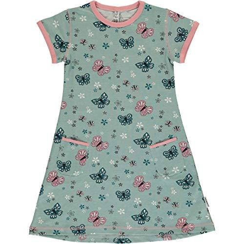 Maxomorra Kurzarm-Kleid Sommerkleid Tunikakleid mit Taschen Motiv (Schmetterling, 74/80)