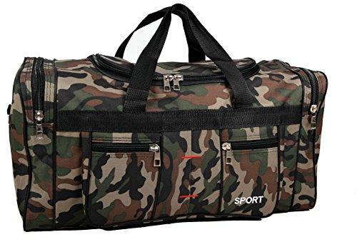 iwea IWEA Reisetasche Sporttasche Freizeittasche Trainingstasche Weekender Handgepäck Tragetasche In Camouflage Army Design (Camouflage, X-Large (ca. 70x35x30))