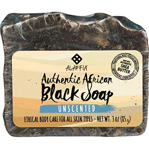 Alaffia - Authentic African Black Soap Bar, Handcrafted to Cleanse and Moisturize Skin with...