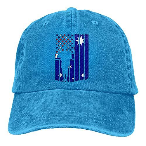 FGHGF Amerikaanse Australische vlag leger veteranen mannen/vrouwen verstelbare honkbal caps Denim Jeanet zon hoed
