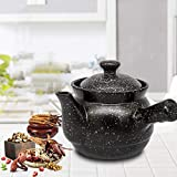 POETRY Medicine Casserole, Ceramic Saucepan Chinese Decoction Pot Peony Medicine Pot with Handle and Spout for Chinese Medicine Soup Healthy Meal-3.5l