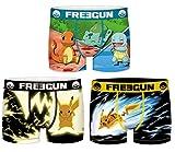 Freegun - Lote de 3 bóxers para niño Serie Pokemon 1 10-12 años