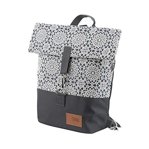 millybo SWEET JEANS Fahrradtasche Damen Rucksack Spitzenmuster Backpack (800.007 lace grey)