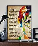 Imagine John Lennon Songtext Poster Glänzend Kunstdruck