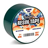 TSSART Resin Tape for Epoxy Resin Molding - Silicone Thermal Adhesive Tape, Oxidation and High Temperature Resistance Easy Peeling, Epoxy Release Tape for River Tables - 2 inch Wide 108FT Long