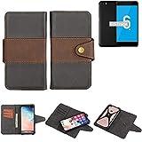 K-S-Trade Handy-Hülle Schutz-Hülle Bookstyle Wallet-Hülle Für Vernee Mars Pro 4G Bumper R&umschutz Schwarz-braun 1x